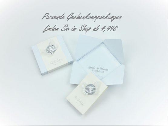 Geschenkverpackung für besticktes Taschentuch