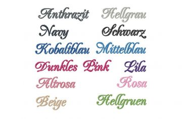 Muster der Farben für bestickte Taschentücher