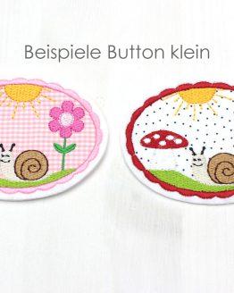 Beispielfoto Stickdatei Schnecke Blume und Fliegenpilz