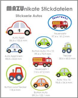 Bild Stickateien Autos