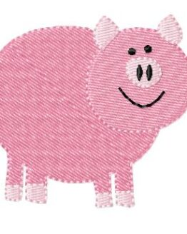 Bild Stickdatei Schwein