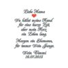Besticktes Taschentuch Freudentränen Mutter des Bräutigams oder Vater des Bräutigams