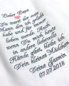 Besticktes Taschentuch für den Vater der Braut für Freudentränen