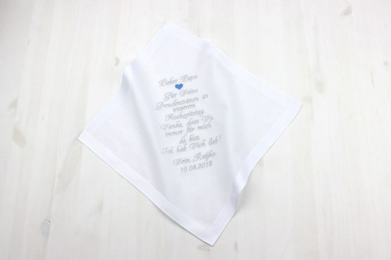 Besticktes Taschentuch zur Hochzeit, Taschentuch Hochzeit, Taschentuch Freudentränen