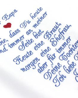 Besticktes Taschentuch zur Hochzeit für den Brautvater, Taschentuch zur Hochzeit für die Brautmutter, Taschentuch Hochzeit, Taschentuch Freudentränen