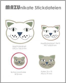 Stickdatei Katze Shop Bild