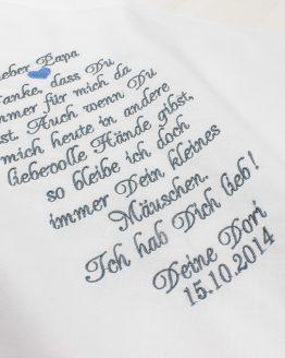 Besticktes Taschentuch zur Hochzeit Brautvater, Taschentuch Vater der Braut, Papa der Braut, für Freudentränen