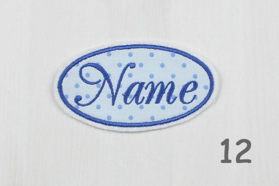 Besticktes Namensschild, Applikation, Aufnäher, Flicken mit Namen