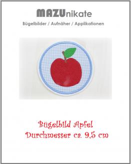 Bügelbild Apfel, Aufnäher, Aufbügler, Appliktion, Flicken
