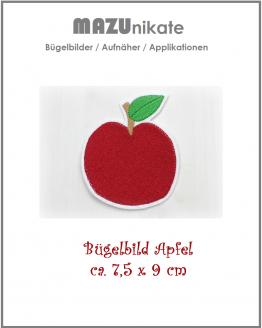 Apfel, Bügelbild, Flicken, Aufnäher, Applikation