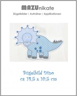 Bügelbild Dino, Bügelbild Dinosaurier, Applikation, Aufnäher, Aufbügler,