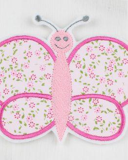 Bügelbild, Applikation, Aufnäher, Flicken zum Aufbügeln, Schmetterling