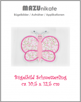 Schmetterling Bügelbild, Applikation, Flicken, Aufnäher