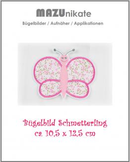 Schmetterling Bügelbild, Applikation, Flicken, Aufnäher