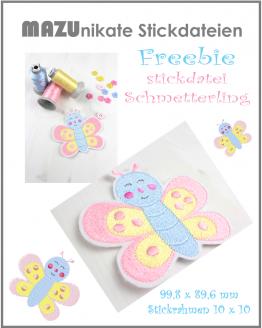 Freebie Schmetterling Stickdatei