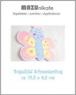 Schmetterling zum Aufbügeln, Applikation, Aufnäher, Flicken, Bügelbild