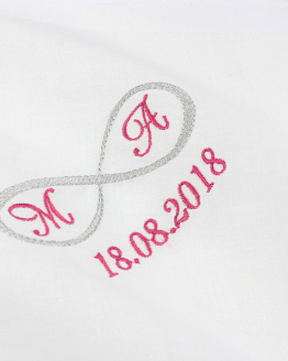 Stofftaschentuch besticken lassen zur Hochzeit, Freudentränen, Taschentuch Schwiegermutter