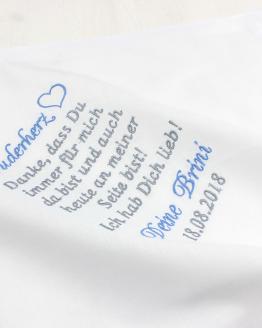 Taschentuch besticken lassen Hochzeit Bruder, Taschentuch Bruder, Gasgeschenk Bruder, Gastgeschenk Geschwister Hochzeit
